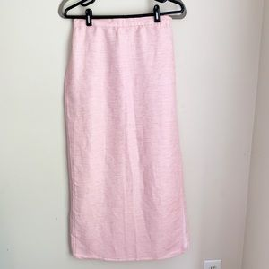 Eileen Fisher Pink Linen Maxi Skirt